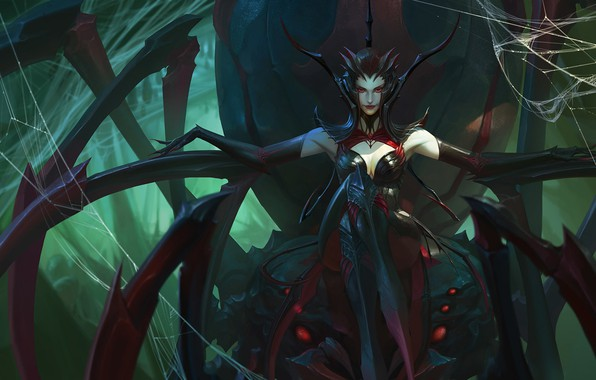 Picture the spider Queen, Bayard Wu, spider queen, League Fan Art