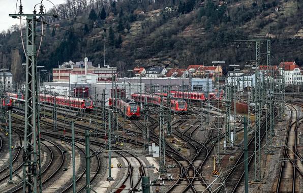Picture station, railroad, trains