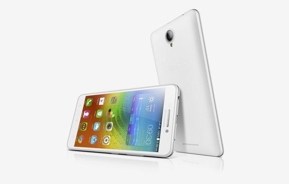 Picture white, silver, white background, White, smartphone, Lenovo, A5000