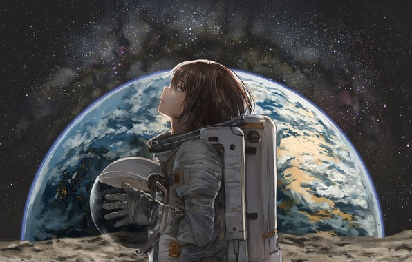 Picture space, anime, the suit, profile