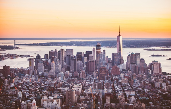 Photo wallpaper the city, panorama, the building, skyscrapers, megapolis, New York