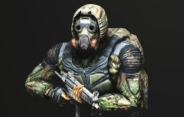 Picture freedom, weapons, gas mask, jumpsuit, Stalker, S. T. A. L. K. E. R., Viper