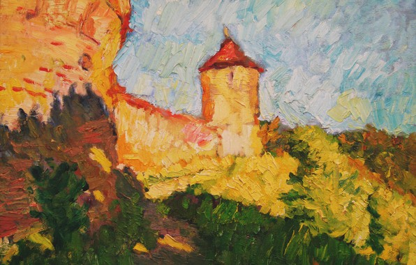 Picture tower, 2006, fortress, Landscape, path, The petyaev