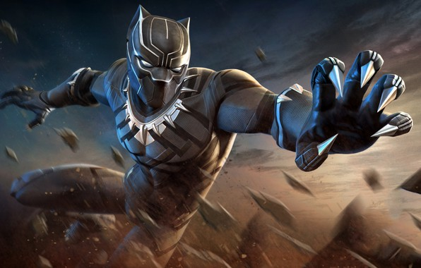 Picture black, mask, art, costume, claws, superhero, Marvel, comic, Black Panther, Black Panther