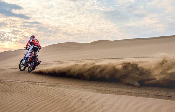 Picture Sand, Motorcycle, Moto, Rally, Rally, Dune, Sands, Homda, Dakar'