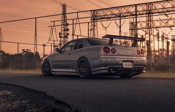 Picture Nissan, Car, Skyline, Sport, R34, Rear