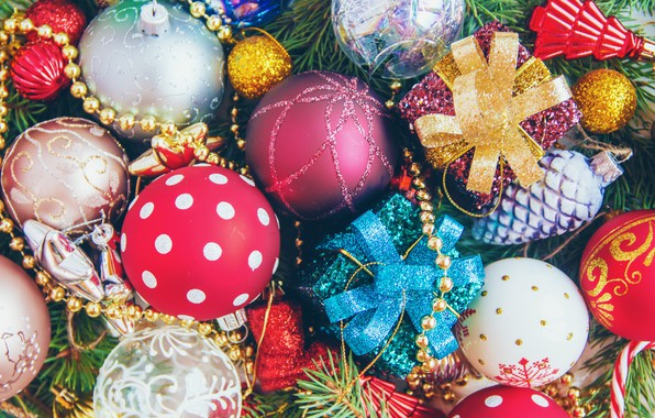 Picture decoration, balls, toys, New Year, Christmas, happy, Christmas, vintage, balls, New Year, Merry Christmas, Xmas, …