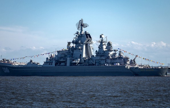 Picture cruiser, atomic, rocket, Navy, Peter the great, проект1144