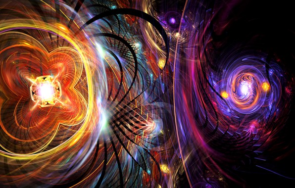 Picture colors, colorful, abstract, rendering, digital art, psychedelic, Shape