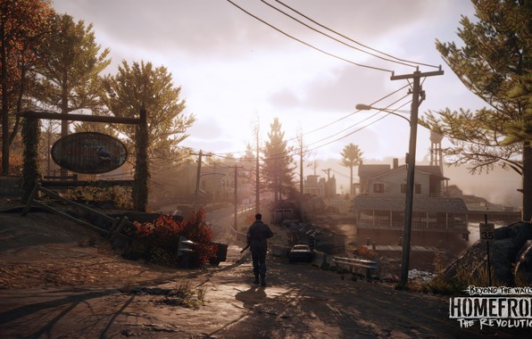 Picture road, the building, sign, Homefront - The Revolution, DLC3 Promo Screenshots