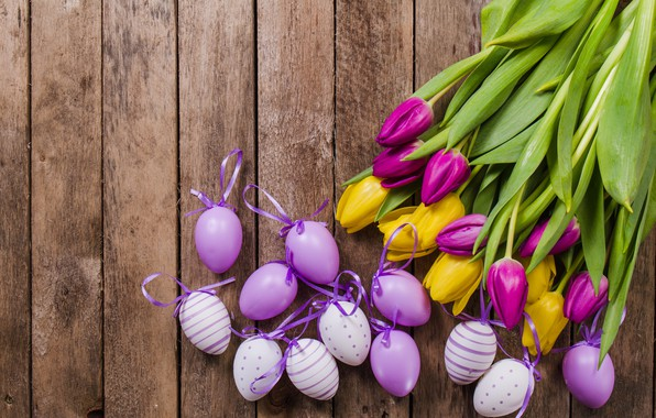 Picture flowers, tulips, tulips, decor, eggs, easter, table