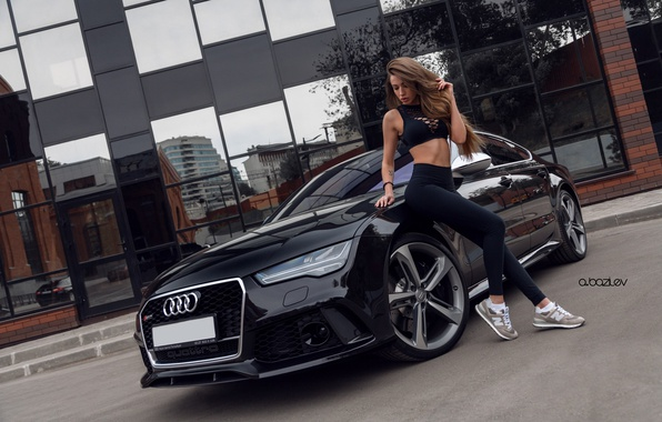 Wallpaper Black Car Sneakers Car Audi Rs7 Sexy The