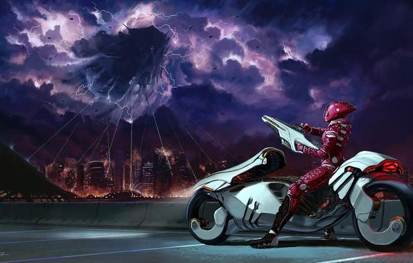 Picture the city, fiction, Moto, art, capture, aliens, jeffrey rex, It Begins