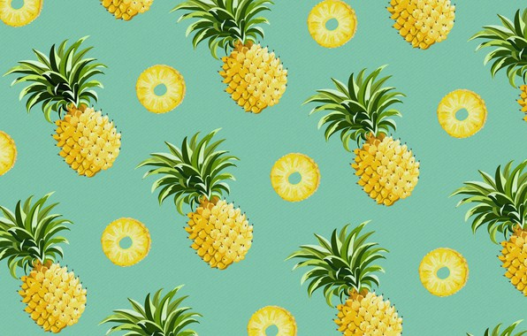 Picture food, vector, pineapple, the fruit