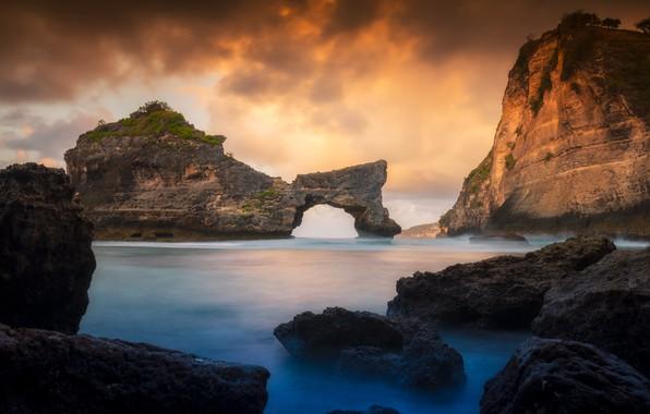Picture sand, sea, beach, summer, the sky, sunset, stones, rocks, shore, summer, beach, sky, sea, sunset, …