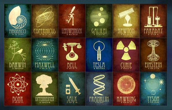 Picture pioneer, bell, discovery, science, tesla, franklin, copernicus, Tyson, faraday, bohr, einstein, curie, newton, darwin, galilei, …