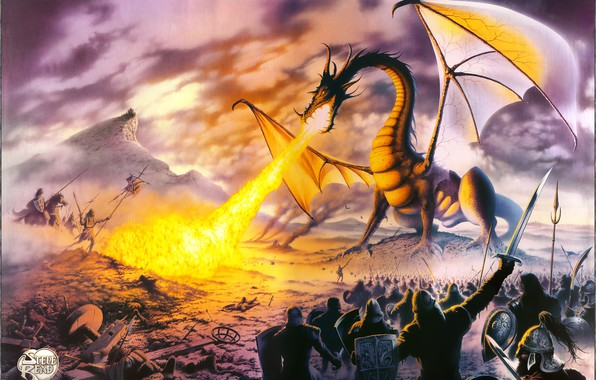 Picture Dragon, poster, Lord, Steve-Read, TOLKIEN, MISK PAINTERS