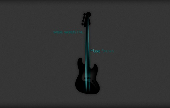 Picture grey, background, bass, strings, strings, bass, aquamarine, aquamarine, grey background