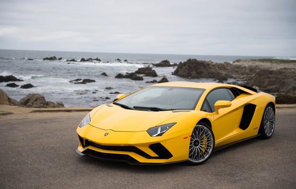 Picture coast, Lamborghini, supercar, Aventador S