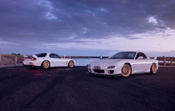 Picture Mazda, Cars, White, RX-7, Sport