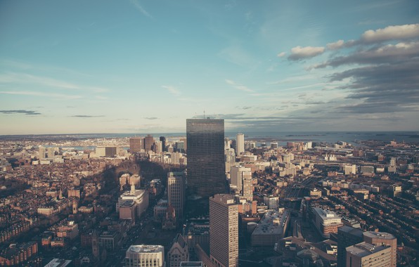Picture the sky, clouds, the city, building, home, skyscrapers, Boston, Boston