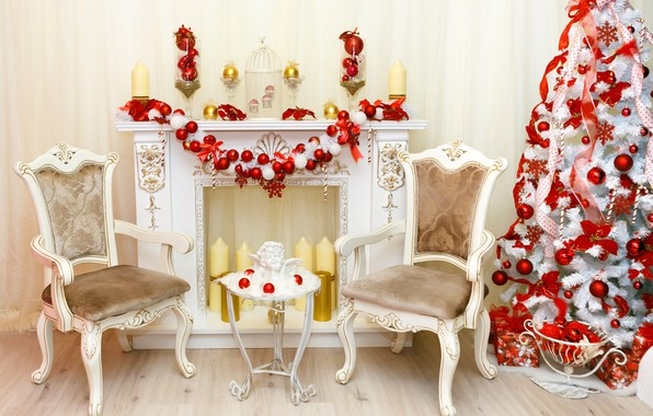 Wallpaper Xmas New Year Gifts Interior Design Merry