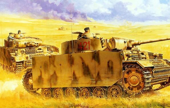 Picture Pz.Kpfw.III, German medium tank, PzKpfw III, Panzer III, Panzerkampfwagen III Ausf M/N, Pz.III