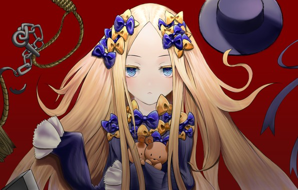 Picture tape, hat, anime, art, girl, Fate Grand Order, The destiny of a great campaign, Abigail ...