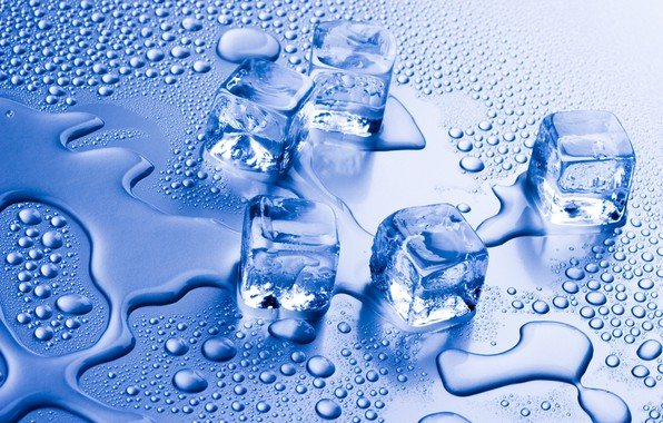 Photo Wallpaper Water Ice Cube