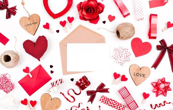Picture love, romance, hearts, red, love, romantic, hearts, Valentine's Day, gift, decoration