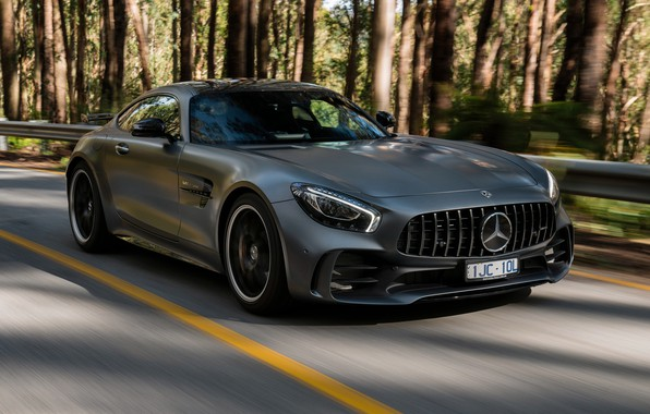Picture Mercedes-Benz, speed, supercar, AMG, 2018, GT R