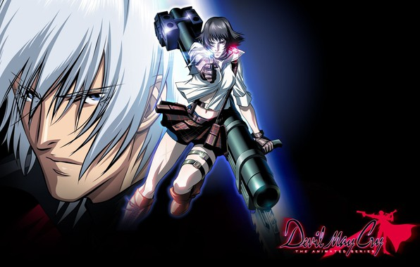 Picture shot, guy, killer, Dante, gray, Devil May Cry, Lady, evil eye, Devil may cry, super-weapons