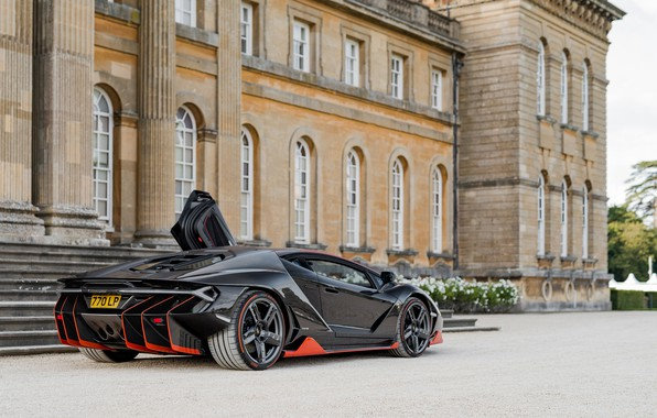Picture black, Lamborghini, supercar, Centennial, Lamborghini Centenary LP 770-4, LP 770-4