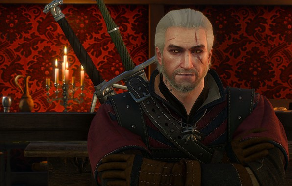 Picture the Witcher, Geralt, hunter, the protagonist, The Witcher 3 Wild Hunt, Geralt