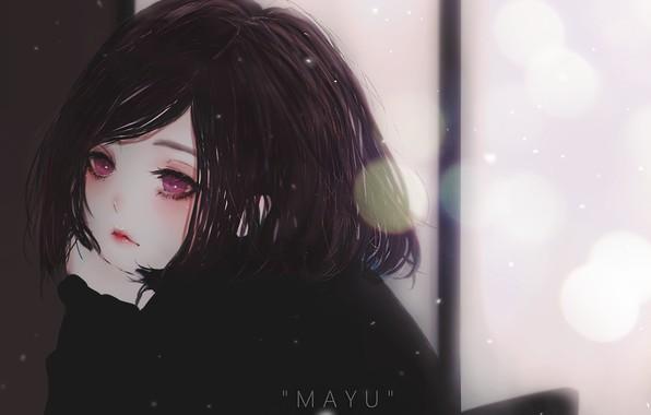 Picture girl, bokeh, Mayu, by KyrieMeii02