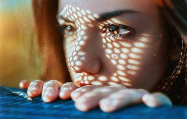 Picture eyes, look, girl, macro, light, shadow, Delaiah Gonzalez, Gustavo Terzaghi