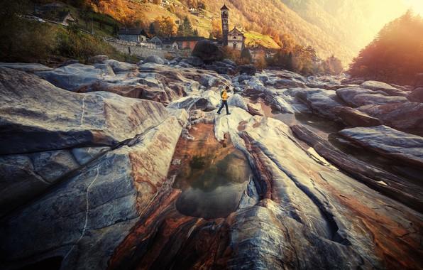 Picture nature, river, stones