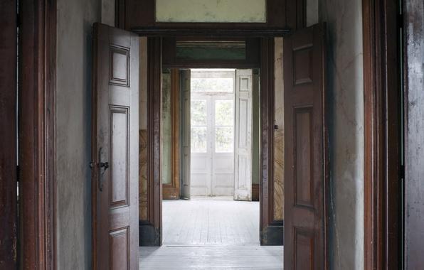 Picture house, door, room