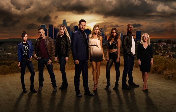 Picture the sky, look, the city, actors, the series, Movies, Lucifer, Lucifer