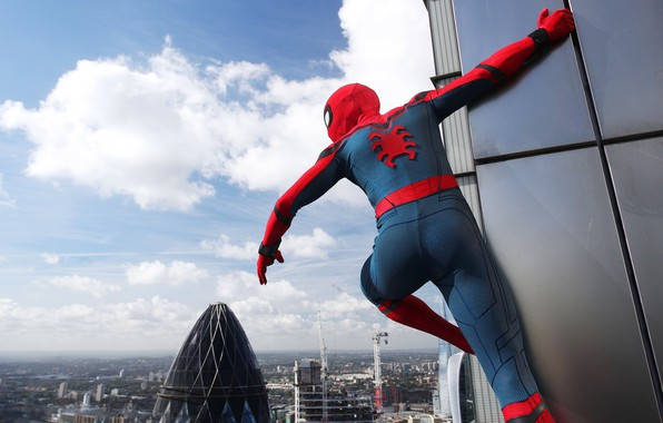 Picture cinema, spider, logo, sky, cloud, boy, Marvel, movie, Spider-man, hero, Boy, film, mask, Spiderman, uniform, …