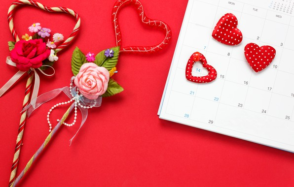 Picture Flowers, Love, Hearts, Holiday, Valentine's day