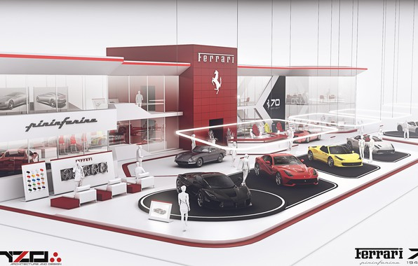 Exhibition Stand Wallpaper : Wallpaper exhibition cars ferrari expo stand concept images for
