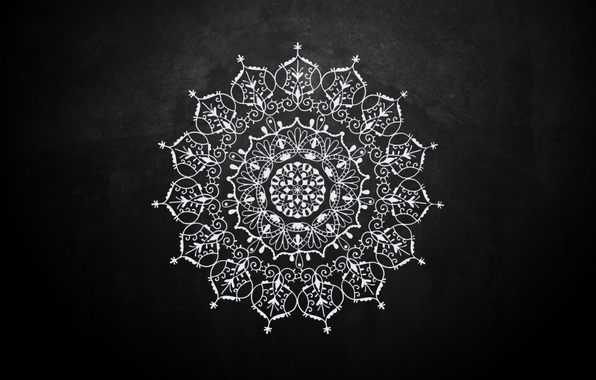 Wallpaper mandala background black texture black pattern