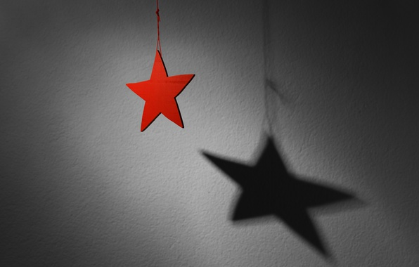 Photo wallpaper shadow, Advent, holiday, star