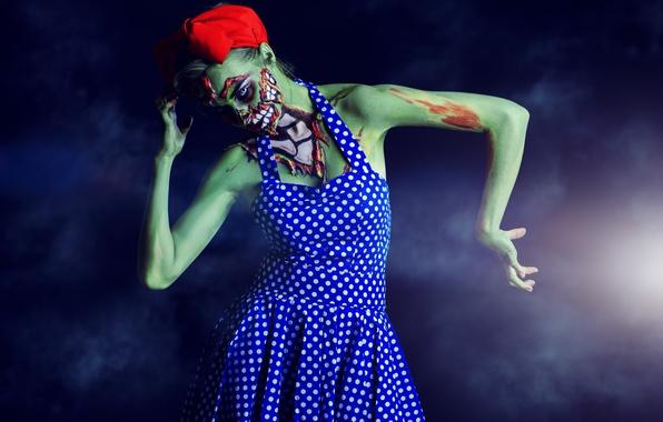 Picture Halloween, zombie, costume, makeup