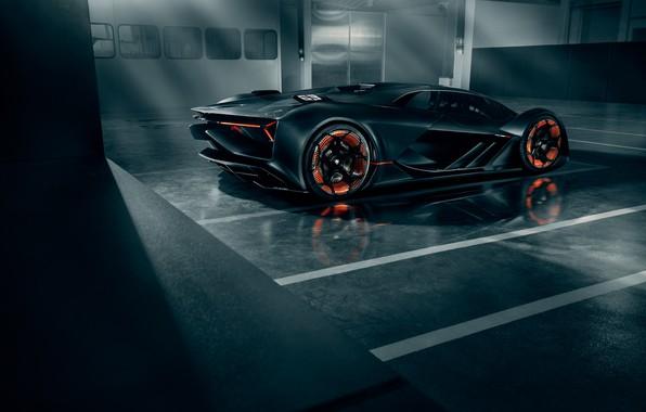 Picture Lamborghini, Light, Wheels, Hypercar, Rear, The Third Millennium