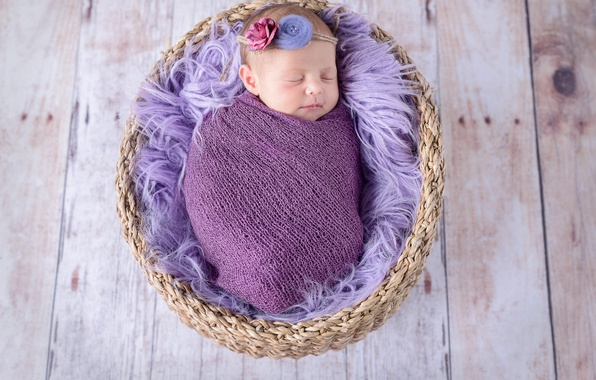 Picture basket, child, baby