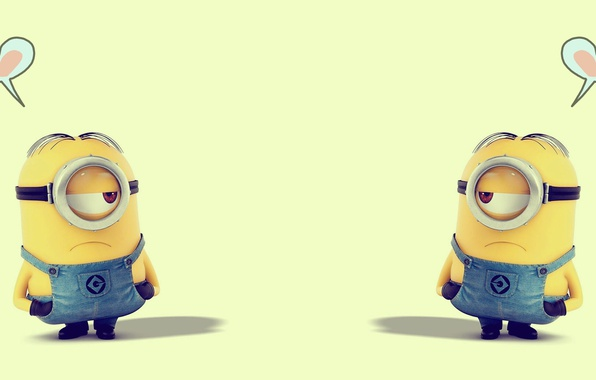 Picture love, joy, heart, Minions, The minions