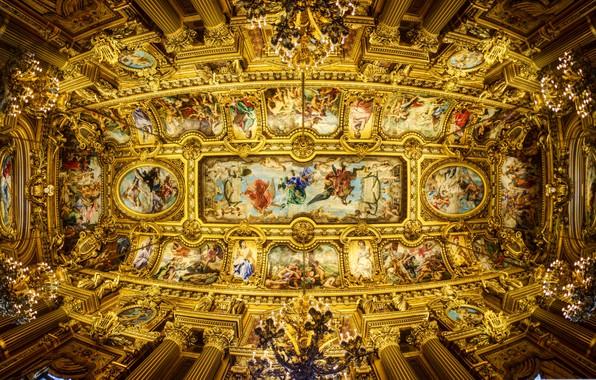 Picture France, Paris, the ceiling, Opera Garnier