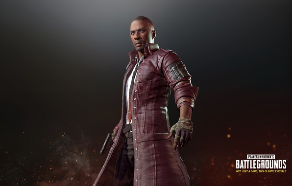 Picture gun, the game, man, tie, belt, gloves, cloak, stand, pants, character, pubg, playerunknown's battlegrounds